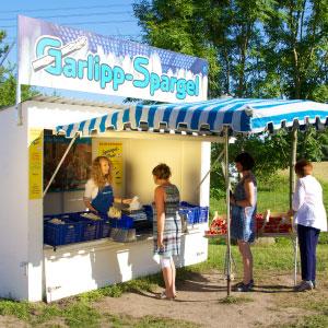 Verkaufsstand, Garlipp-Spargel