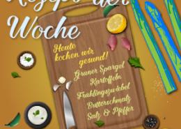 Spargelrezept der Woche Kartoffelscheiben mit Spargel Vorschaubild