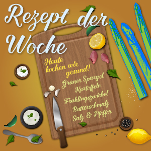 Rezept der Woche Kartoffelscheiben mit Spargel Vorschaubild