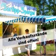 Spargeljstände, Verkaufsstände, offen, ab sofort geöffnet