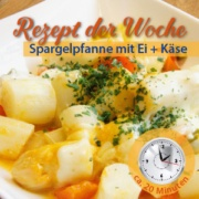 Vorschaubild Spargelpfanne mit Ei und Käse - ein leckeres Spargelrezept von Garlipp Spargel