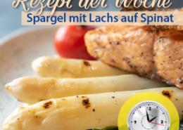 Köstlicher Spargel mit Lachs auf Spinat - ein Festessen