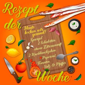 Rezept der Woche orange, Garlipp-Spargel
